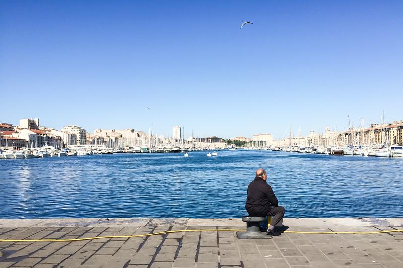 Längst in i gamla hamnen, Marseille
