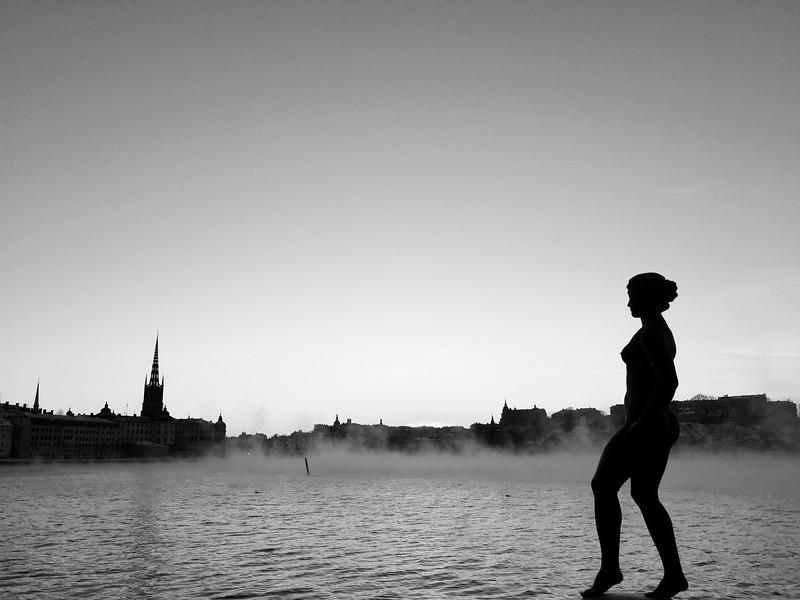 Vid vattnet i Stadshusträdgården, Stockholm