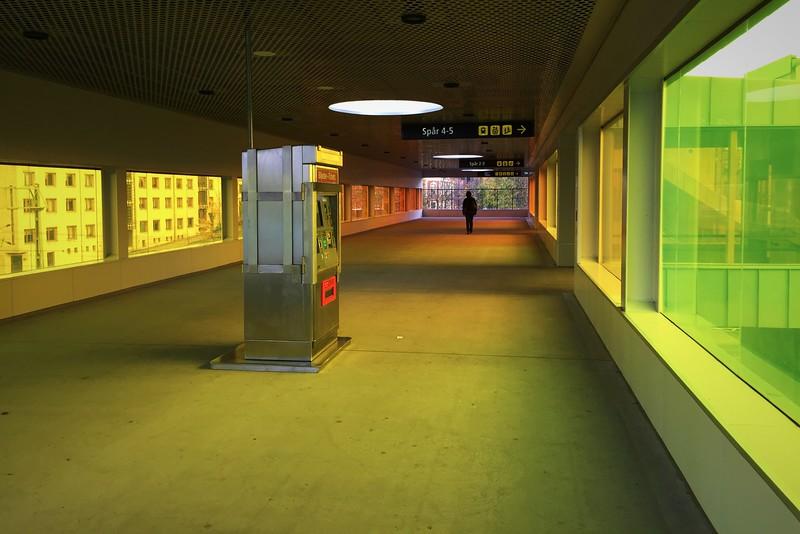 I en gångpassage på Lunds centralstation