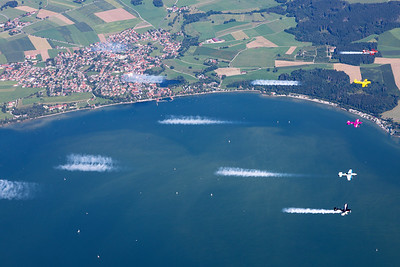 Skytexter crew in action at Chiemsee