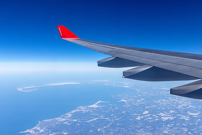 Wing View over Canada