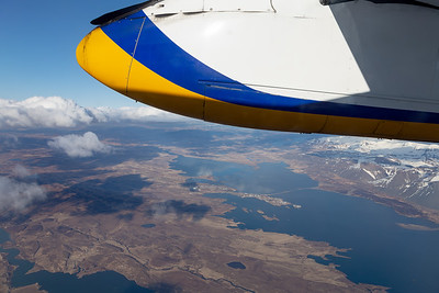 Wing View over Iceland