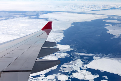 Wing View over Antarctica
