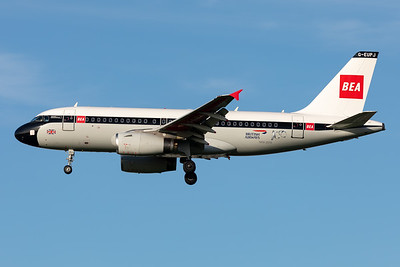"British Airways | Airbus A319-131 | G-EUPJ | ""BEA Retro"" special scheme"