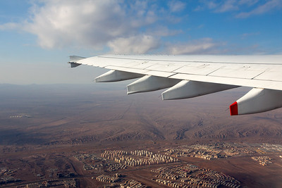 Wing View after departure from Tehran Imam Khomeini International Airport