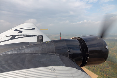 Wing View of the Lufthansa Ju-52 over Germany
