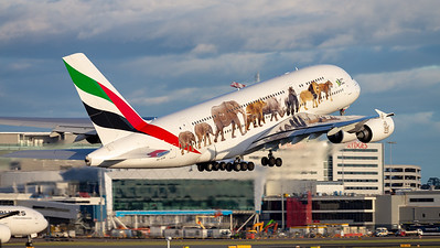 "Emirates | Airbus A380-861 | A6-EOM | ""Emirates United for Wildlife"" special scheme"
