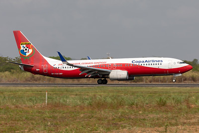 "Copa Airlines | Boeing 737-8V3 | HP-1534CMP | ""Panama National Football Team"" special scheme"