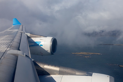 Wing View during approach to Ushuaia