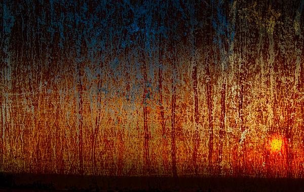 Abstrakt. Solnedgang.
