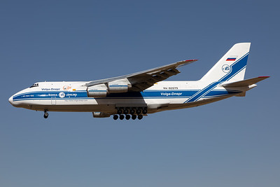 Antonov An-124 on short final at Johannesburg Airport