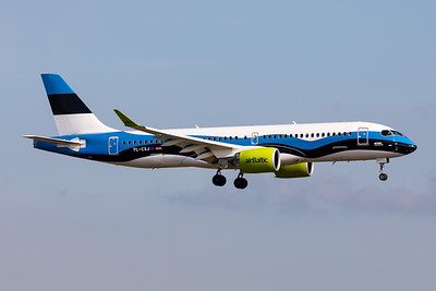 "Air Baltic | Airbus A220-371 | YL-CSJ | ""Estonian Flag"" special scheme"