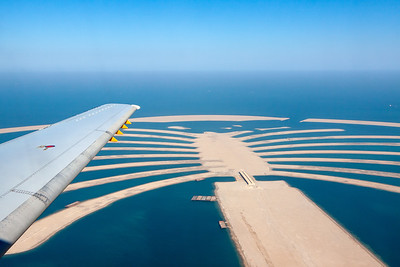 Wing View of the Palm Jumeirah at Dubai