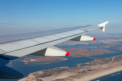 Wing View during approach to JFK airport