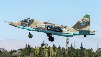 Azerbaijan Air Force / Sukhoi Su-25 Frogfoot / Blue 23