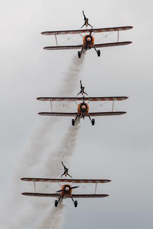 Breitling Wingwalkers / Boeing Stearman / N707TJ, N74189, SE-BOG