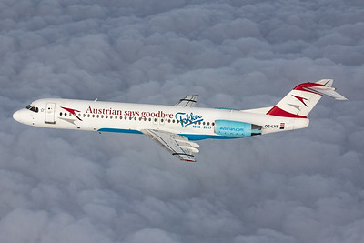 """Austrian Airlines / Fokker 100 / OE-LVE / """"Austrian says goodbye Fokker"""""""