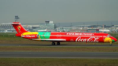 "Danish Air Transport / MD-83 / OY-RUE / ""Coca-Cola FIFA World Cup"""
