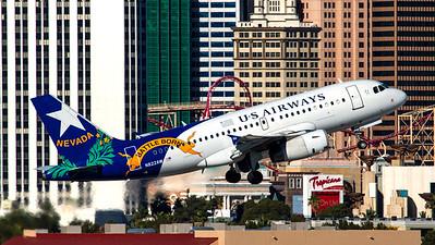 "US Airways / A319-100 / N822AW / ""Nevada-Battle Born"""