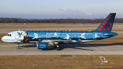 """Brussels Airlines / A320-200 / OO-SNC / """"Belgian Icons - René Magritte"""""""