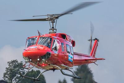 Heli Austria Bell 212 approaching Gmunden