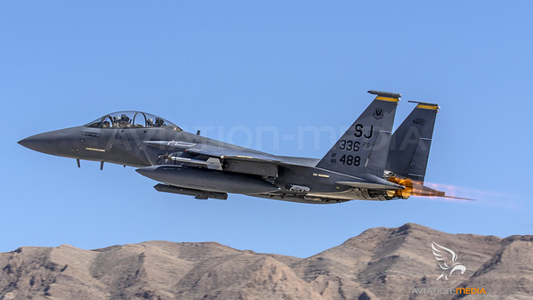 Strike Eagle thundering out of Nellis