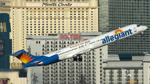 Allegiant MD-80 take-off at Las Vegas