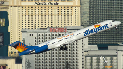 Allegiant MD-80 take-off at Las Vegas