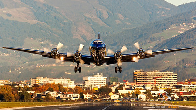 ....Evening Take-Off at Innsbruck