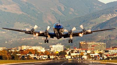 ....Evening Take-Off at Innsbruck