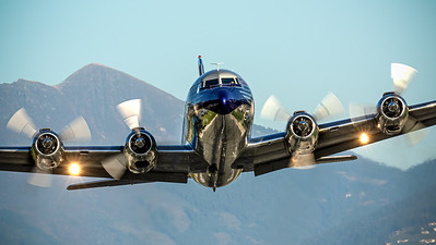 Flying Bulls DC-6 take off @ Innsbruck
