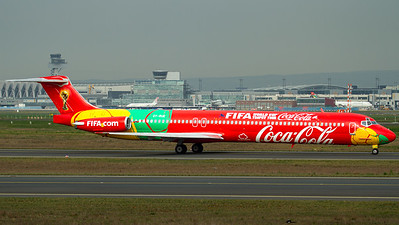 "Danish Air Transport / MD-83 / OY-RUE / ""Coca-Cola FIFA World Cup"""