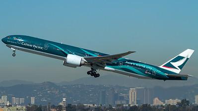 "Cathay Pacific / B777-300 / B-KPF / ""Asia's world city"""