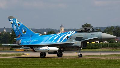 "Luftwaffe - TLG 74 / Eurofighter Typhoon / 31+01 / 60 Years TLG 74 ""The Bavarian Tiger"""