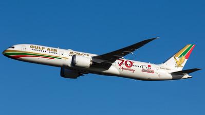 """Gulf Air / B787-9 Dreamliner / A9C-FG / """"70 Years Retro"""""""
