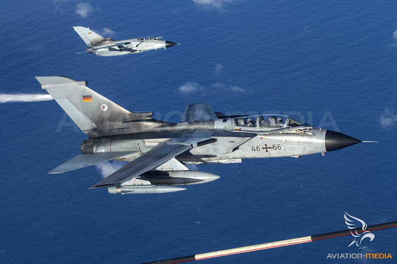 Tornado Air to Air Refueling Mission during Joint Warrior 2015....