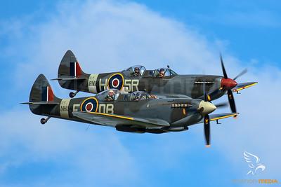 Spitfires over Duxford