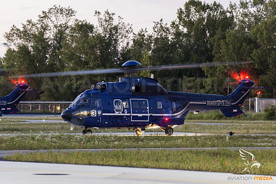Federal Police Super Puma evening departure