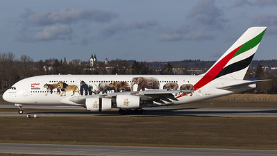 "Emirates / A380-800 / A6-EEI / ""United for Wildlife"""