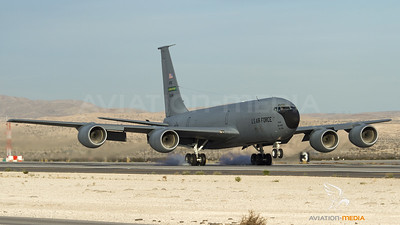 USAF KC-135 touch down at Nellis AFB