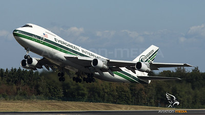 Evergreen 747 take-off....