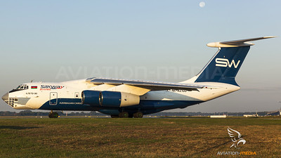 ...an early Silk Way Il-76 at Munich...