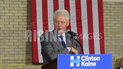 Bill Clinton At Hillary Clinton Campaign Rally In Toledo, OH