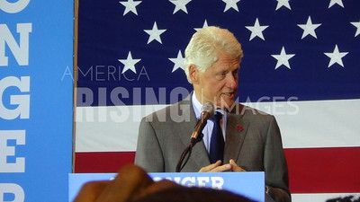 Bill Clinton At Hillary Clinton Campaign Rally In Cleveland, OH