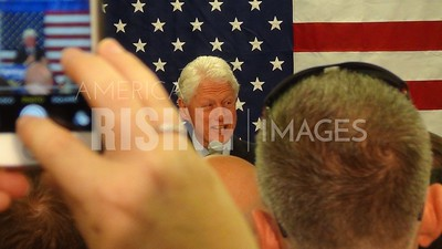 Bill Clinton At Organizing Event At Hillary For America's Indiana Headquarters In Indianapolis, IN
