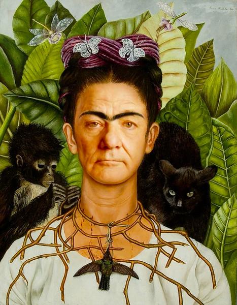 """""""Self-Portrait With Monkey,"""" Frida Kahlo"""