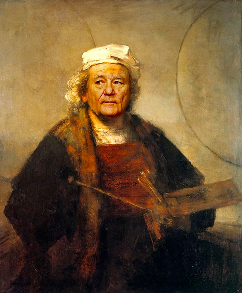 """Self-Portrait With Two Circles,"" Rembrandt"