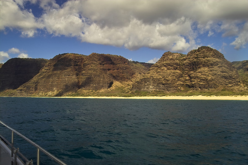 Today we went on the Na Pali Coast sunset cruise that was originally scheduled for Tuesday; but for getting stuck in the sand!