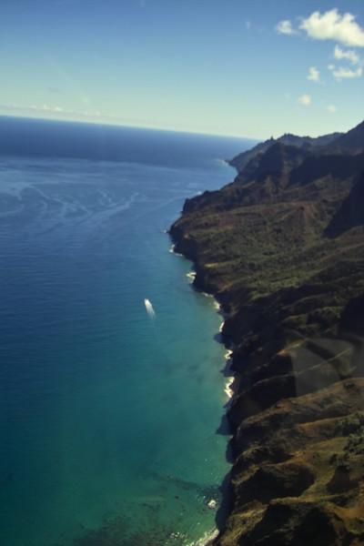 The rugged Na Pali Coast in all its splendor.
