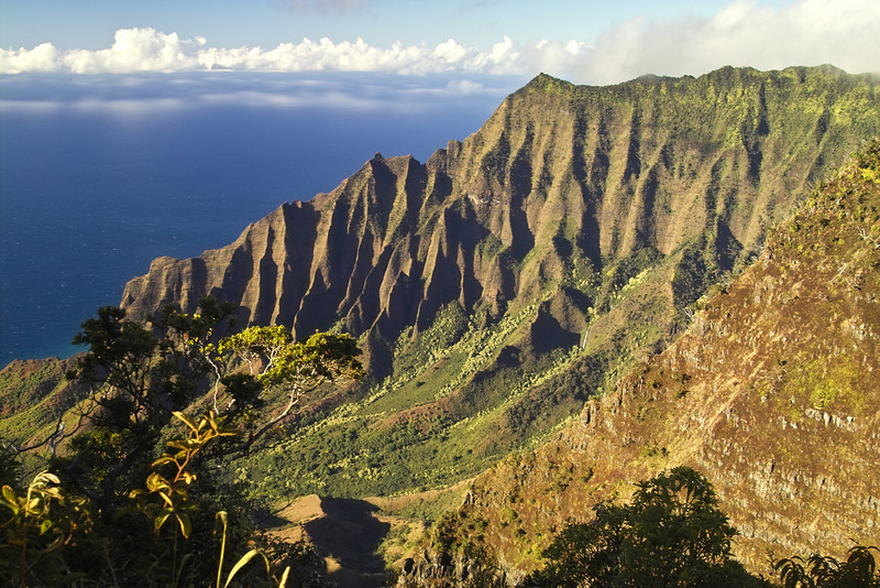 Kalalau Valley from the Lookout, without the fog this year!